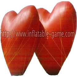 GCar-3 Inflatable advertising red heart for sale