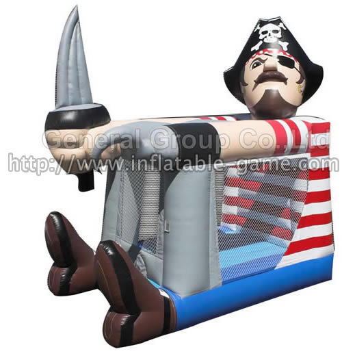 Inflatable PIRATE FOOT BOUNCER