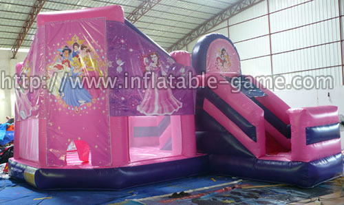 kids princess combo inflatables for sale