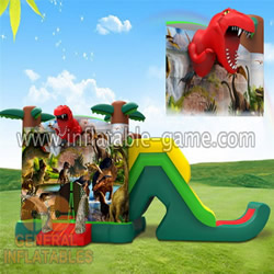 GB-337 Dinosaur bouncer with slide