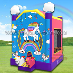 GB-395 Unicorn bounce house
