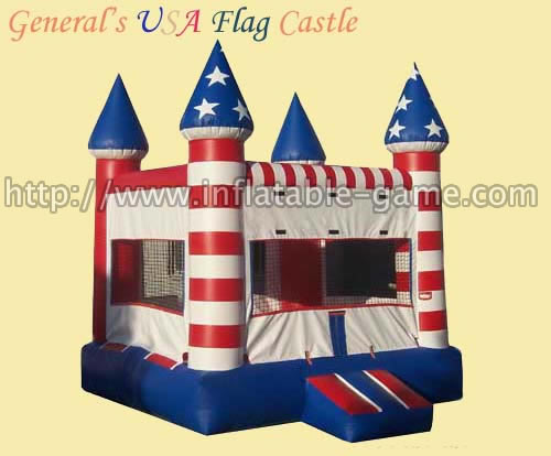 Inflatable USA Flag Castles Jumpers