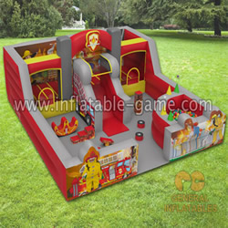 GF-117 Firestation indoor playland with softplay and ball pond