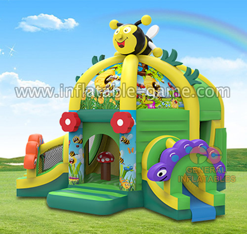Honey bee funland with 2 slides