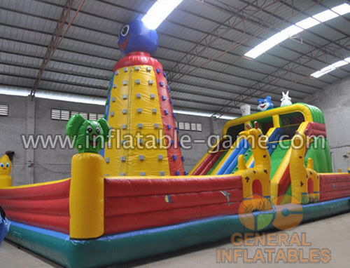inflatable funland with climbing