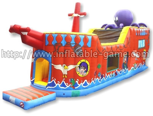 Galleon Assault Course & Inflatable Ship Funland