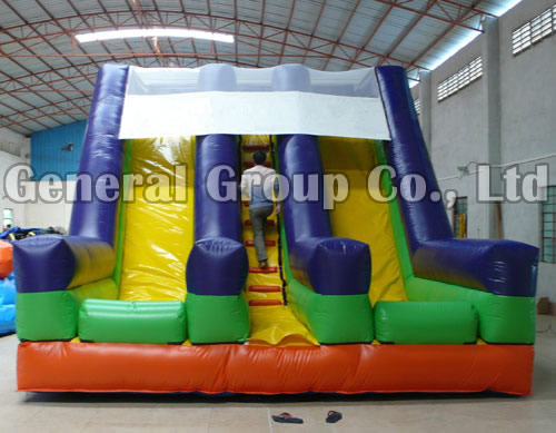 Inflatable Double lane slides