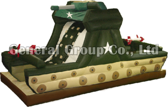 Inflatable Tank Slides