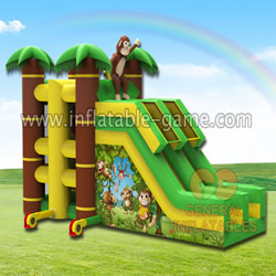 GS-251 Jungle theme spider climb slide