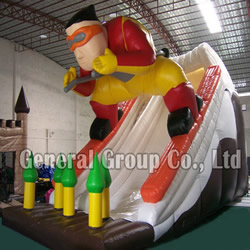 Inflatable skier slide