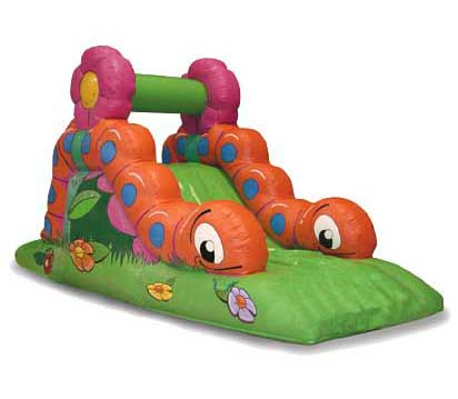 Inflatable reptile slide