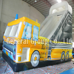 GS-75 Inflatable firetruck slide