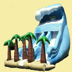 Inflatable tropic slide