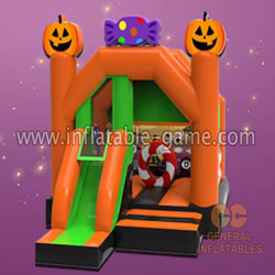 GH-16 Halloween bounce house with slide