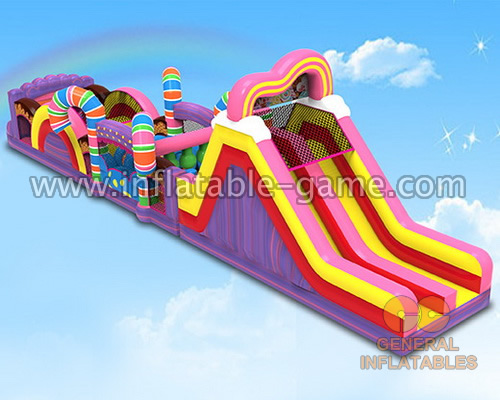 Candy obstacle course