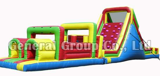 60ftl Inflatable Slide Obstacle Course