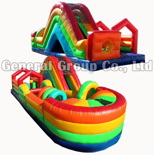 Rainbow Inflatable Obstacle