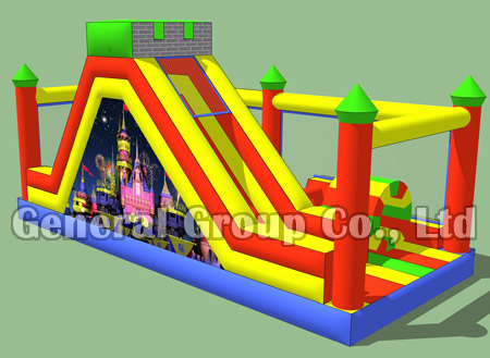 Inflatable castle obstacle