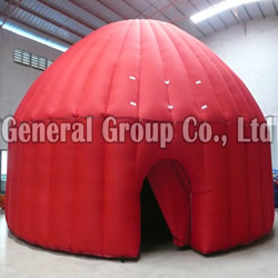 GTE-31 Inflatable Red Dome Tent