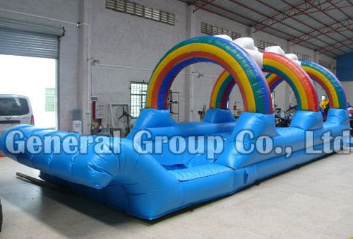 Inflatable Rainbow N Dip Slid