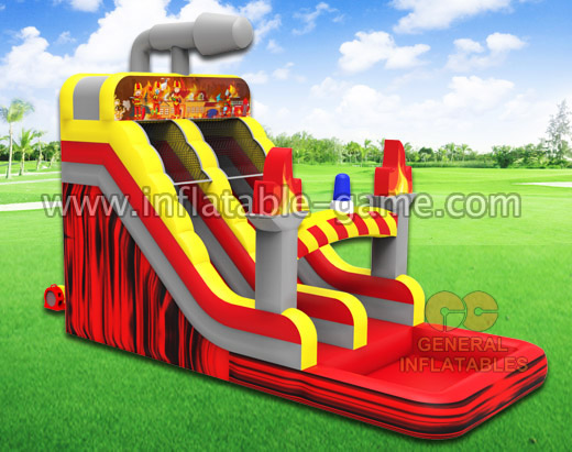 Fire fighting water slide