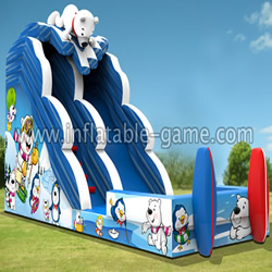 GWS-126 Polar bear skiing waterslide