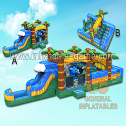GWS-152 Ocean water obstacle course with pool