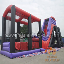 GWS-206 Purple water slide freefall