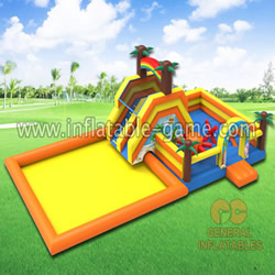 GWS-51 Beach water slide n pool