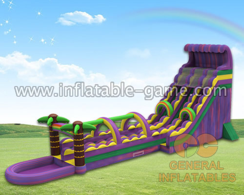 Purple giant water slide